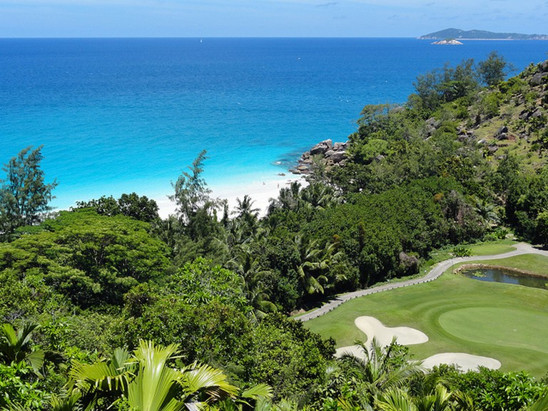 The 15th hole at the Lemuria Hotel