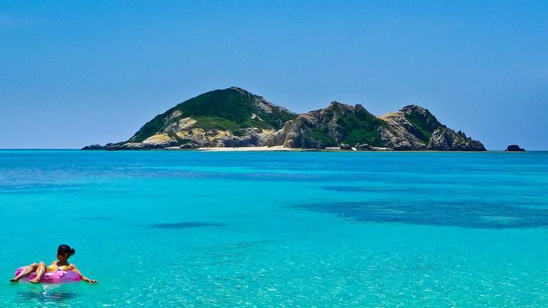 Beautiful blue waters beckon at Kerama Islands