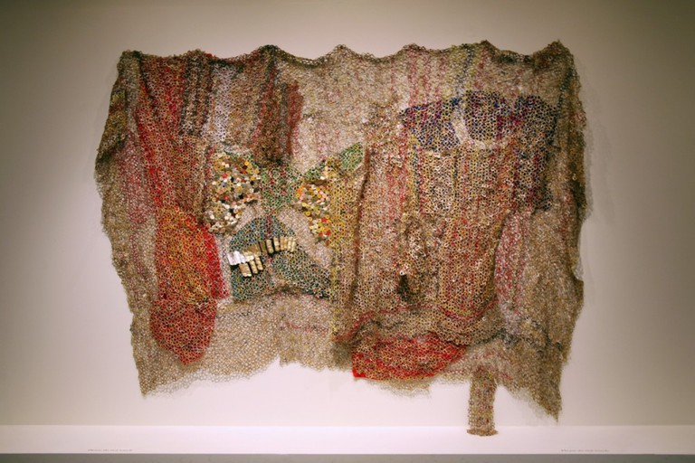 Artwork by El Anatsui, a prominent Ghanaian artist