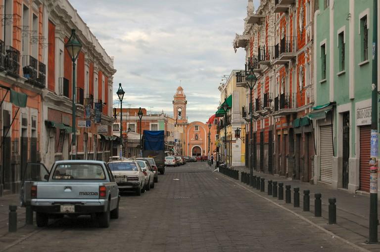 A street view inPuebla