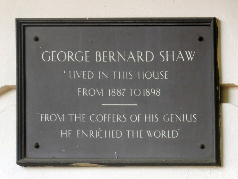 George Bernard Shaw lived here