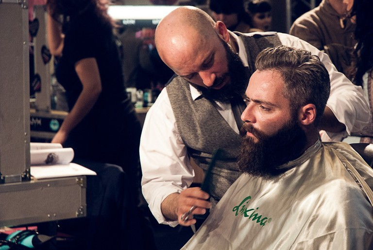 Man and barber