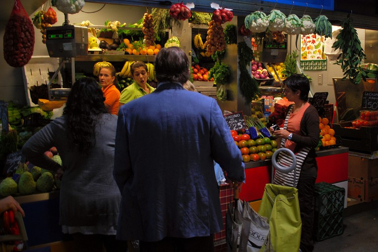 Malaga's food markets are colourful chaotic affairs