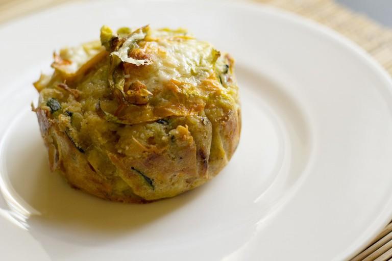 Zucchini and Zucchini Blossoms' Pie