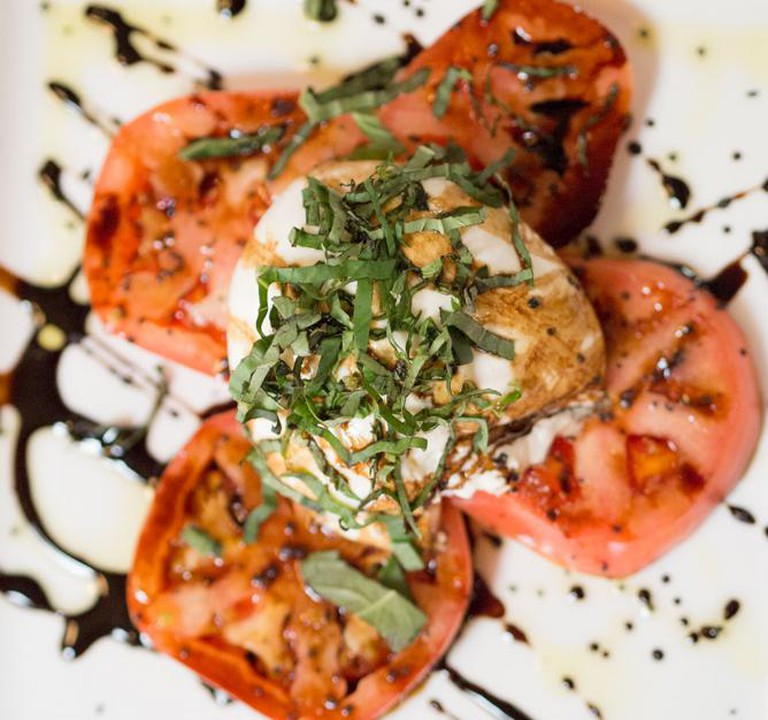 Buratta Buttered Cheese and Heirloom Tomato Salad