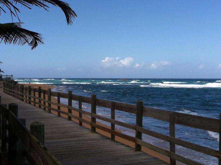 Boardwalk at Piñones in Puerto Rico