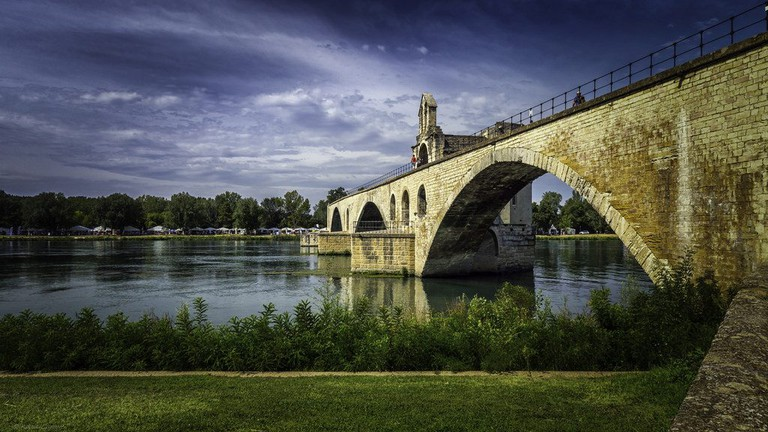 The Bridge Saint-Bénézet in Avignon that famously doesn't go anywhere