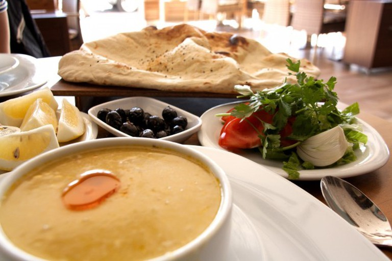 A selection of Turkish meze