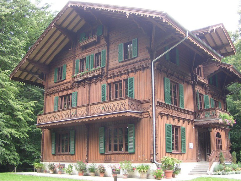 A Bernese house rebuilt in the Ballenberg open-air museum