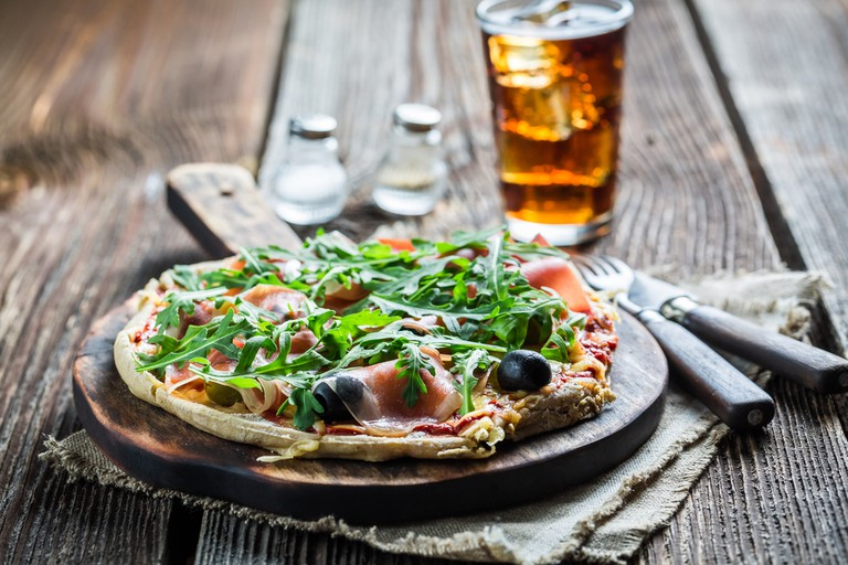 Farringford Garden Restaurant where dozens of homemade pizzas vie with traditional British fare for diners' satisfaction