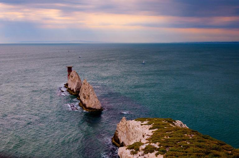 The Needles, lighthouse, Isle of Wight, UK
