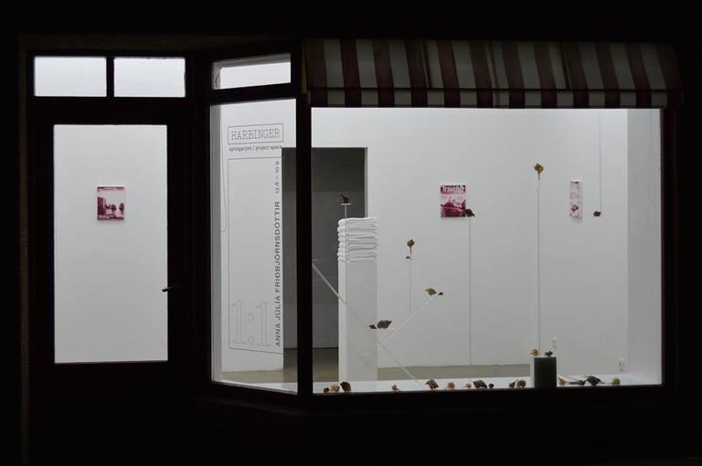 """Anna Júlía Friðbjörnsdóttir, """"1:1,"""" Exhibition View, 2016"""