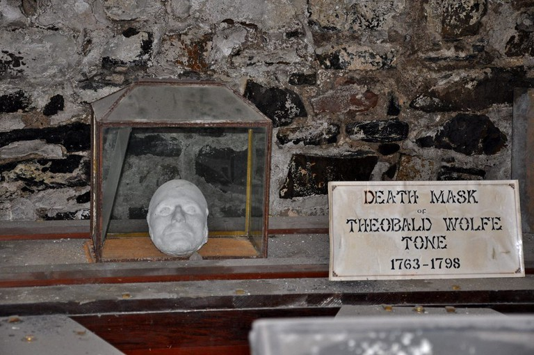 Wolfe Tone's death mask in St Michan's Church crypt