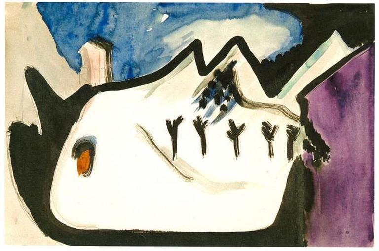 Ernst Ludwig Kirchner, 'Snowy landscape', Oil on canvas, 28.2 x 42.8 cm, 1930 at the Galerie Henze & Ketterer