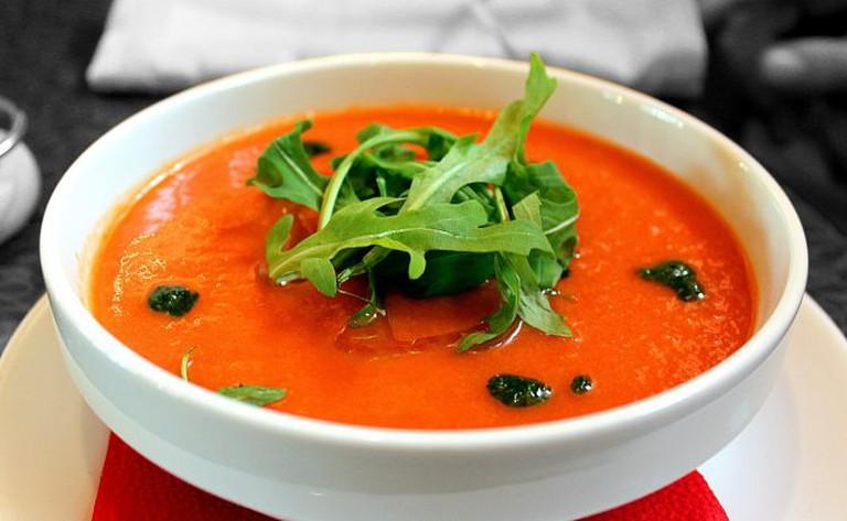 Fresh gazpacho - a Spanich classic - is on the menu at La Gazpacheria Andaluza;