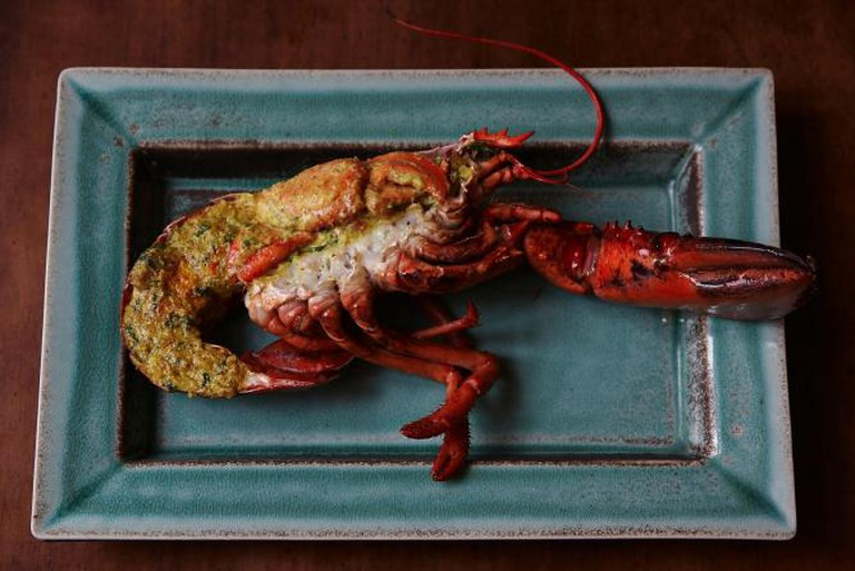Grilled Scottish Lobster with Coconut and Kasundi mustard
