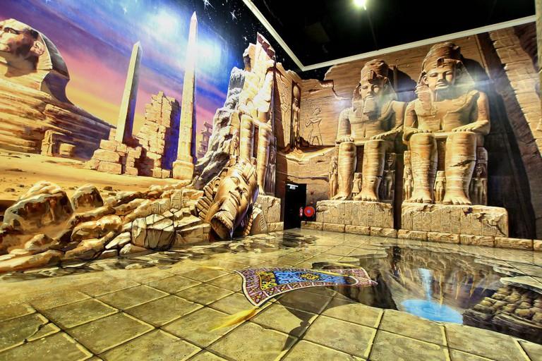 Egyptian-themed backdrop