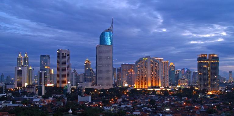 The vibrant Jakarta skyline