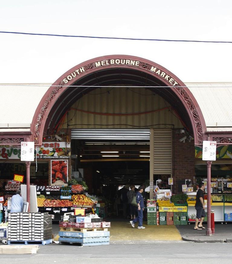 South Melbourne market outside