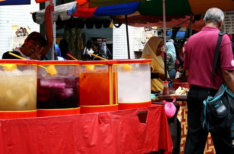 Happy vendors at Masjid India Flea Market