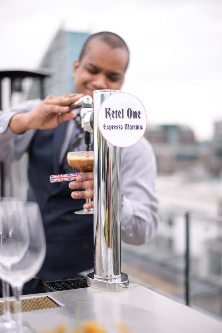 Nitro Espresso Martini machine at Aviary