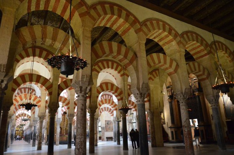 The famous double arches of Cordoba's mosque-cathedral
