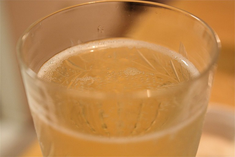 Glass of bubbly