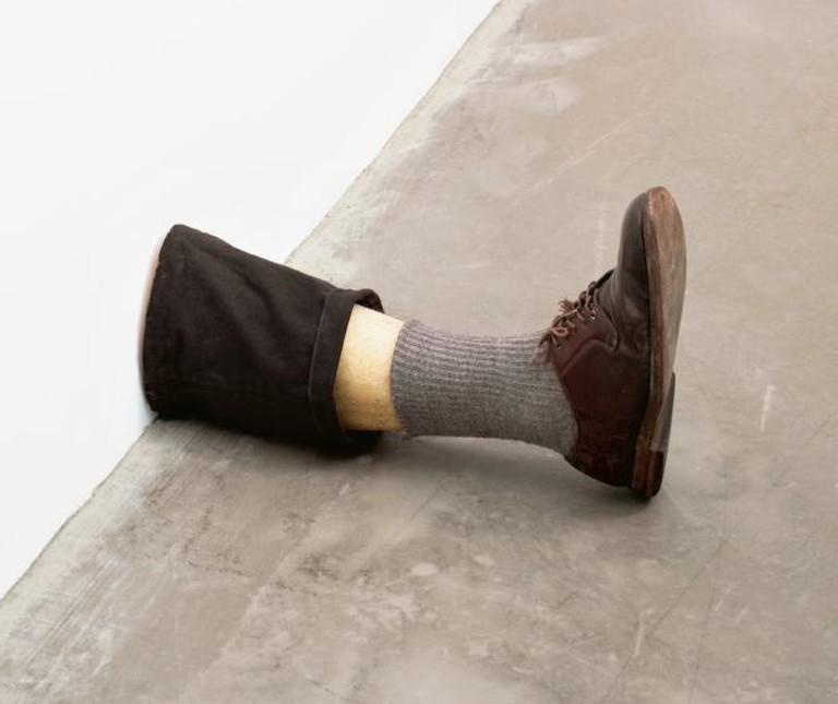 "Robert Gober, Untitled Leg. 1989 – 1990, 11 3/8 x 7 3/4 x 20"" (28.9 x 19.7 x 50.8 cm) | Courtesy of The Museum of Modern Art, New York. Gift of the Dannheiser Foundation,"