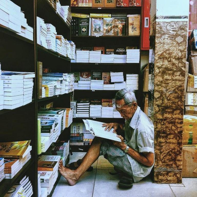 At Fahasa Bookstore