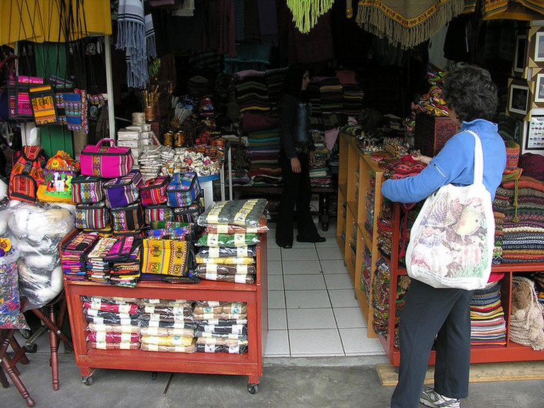 A typical gift store in Lima