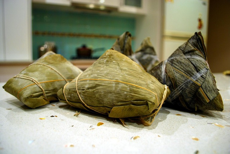 There are free dumplings at Chinese New Year and free Zongzi at the annual Duanwu festival