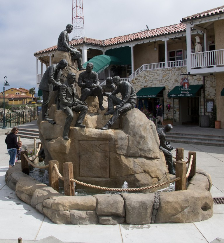 Cannery Row Monument was sculpted by local artist Steven Whyte