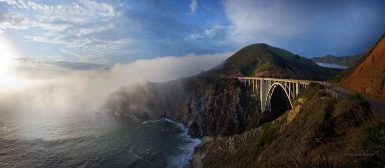 Bixby Bridge and Fog