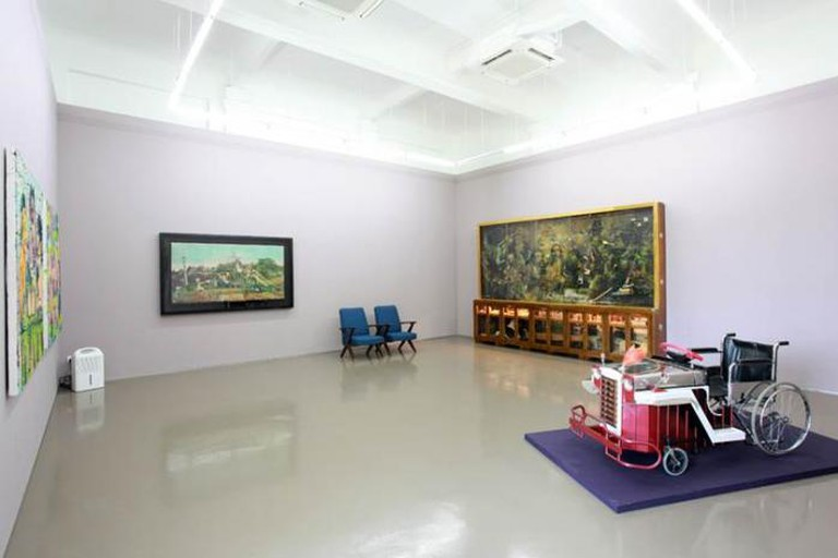 Installation view, Manila: The Night is Restless, The Day is Scornful, ARNDT Singapore, 2014