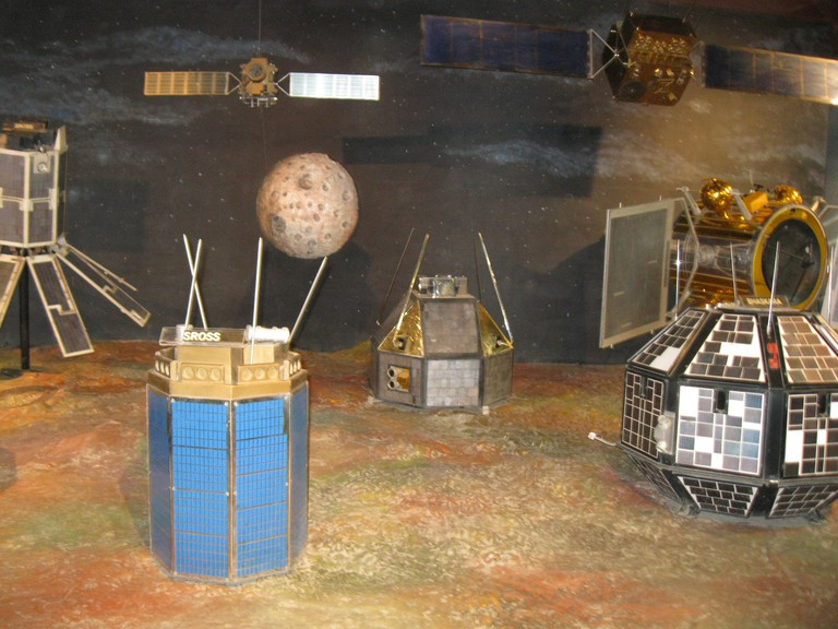 Satellite models at the museum