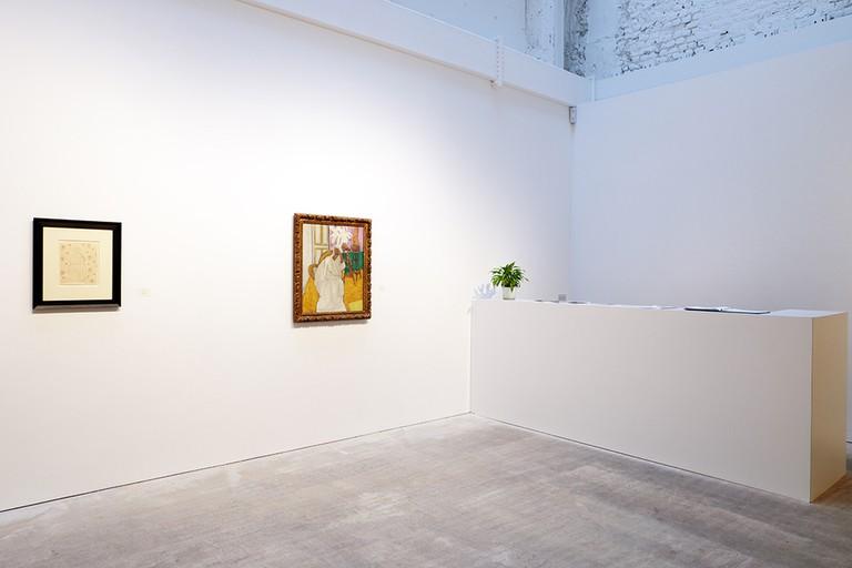 Matisse exhibition installation at Bernard Jacobson