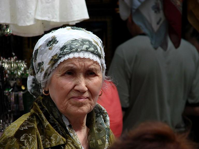 Woman in Market Kazan