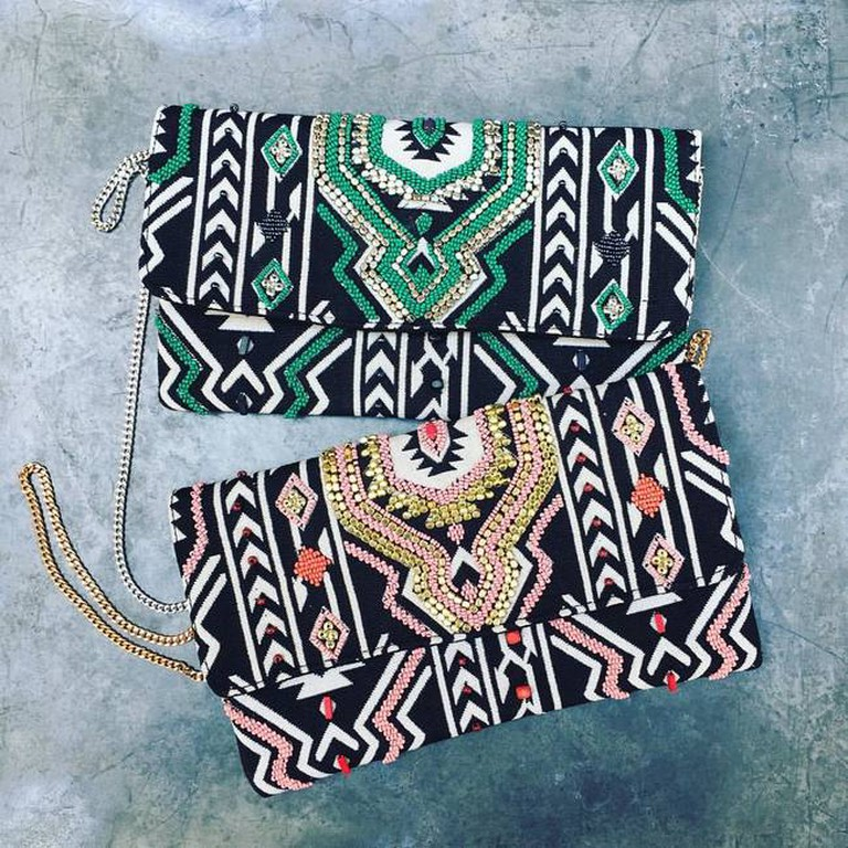 Gorgeous purses with ethnic prints from Mieux