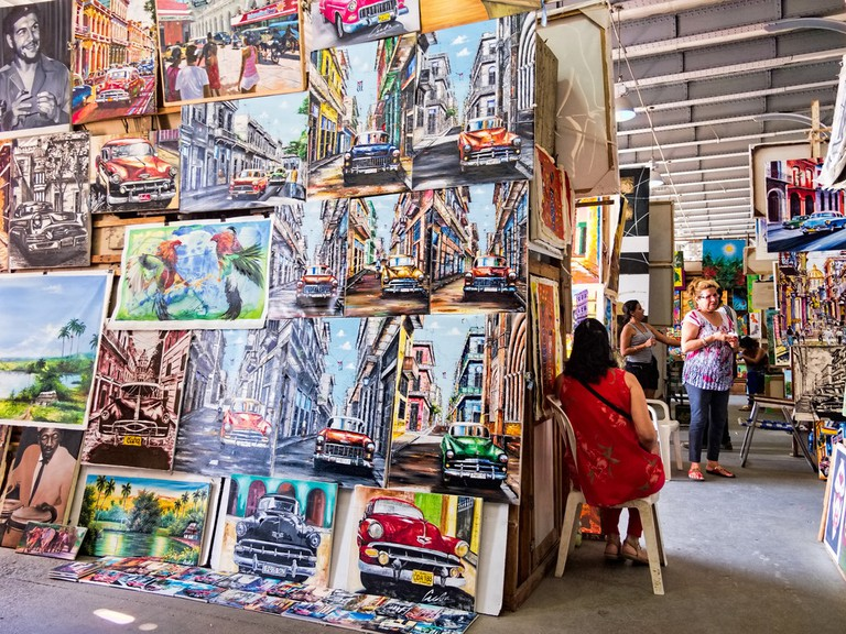 Expect walls of color when you enter Havana's Artisan Market