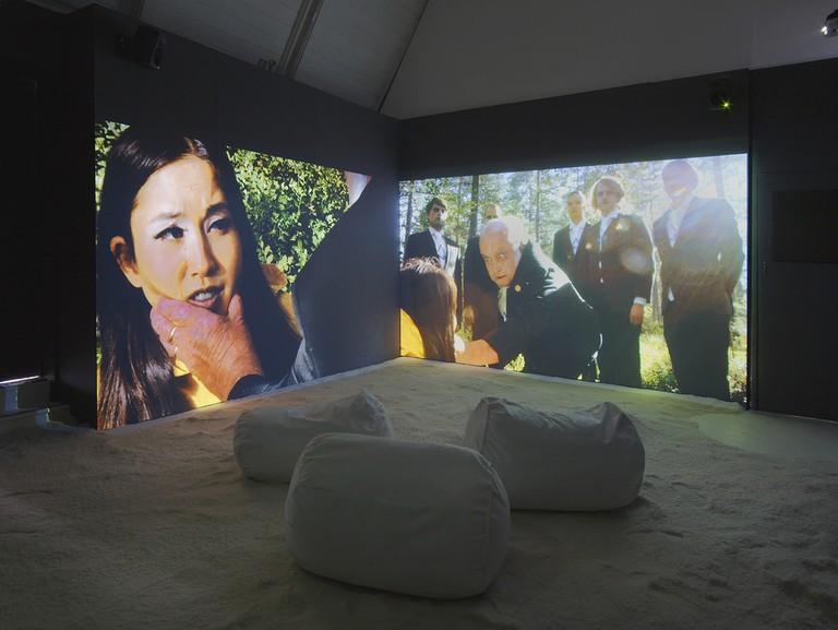 Installation view of Aniko Kuikka's work at the RA Schools Show
