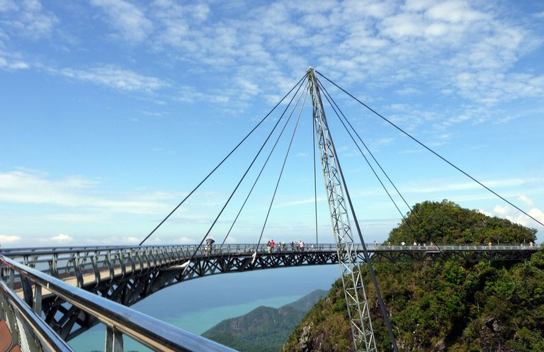 Breathtaking view from the sky bridge