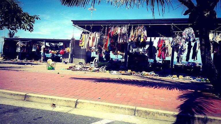 The flea market is found on Durban's North Beach