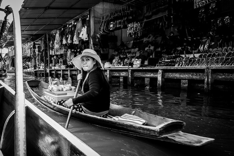 Famous floating markets