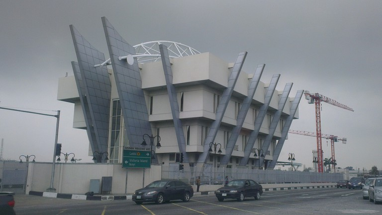 Front view of the Civic Centre, Victoria Island, Lagos