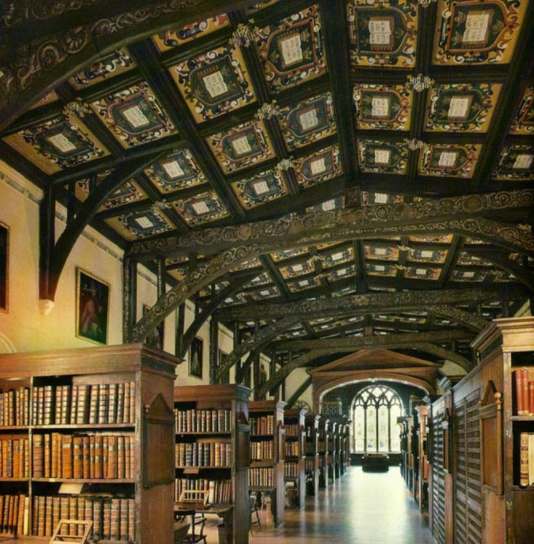 Duke Humfrey's Library, the oldest part of the Bodleian Library, Oxford