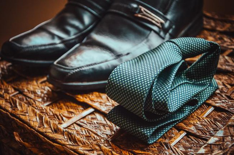A selection of men's accessories