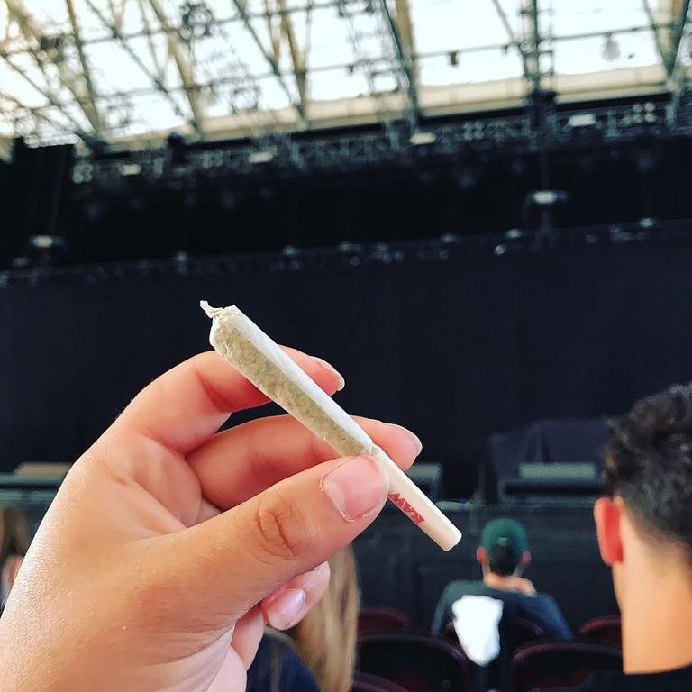 Smoking marijuana weed