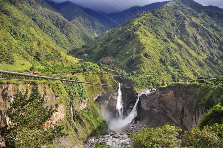 Cascada Agoyan near Baños