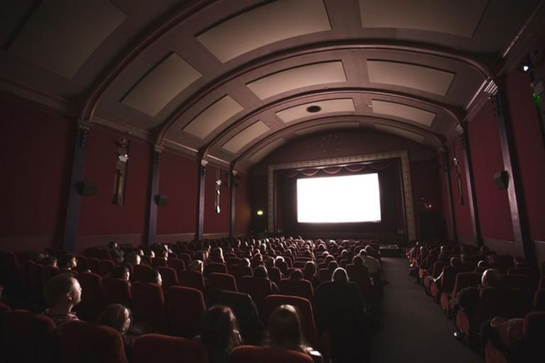 Inside the movie theatre