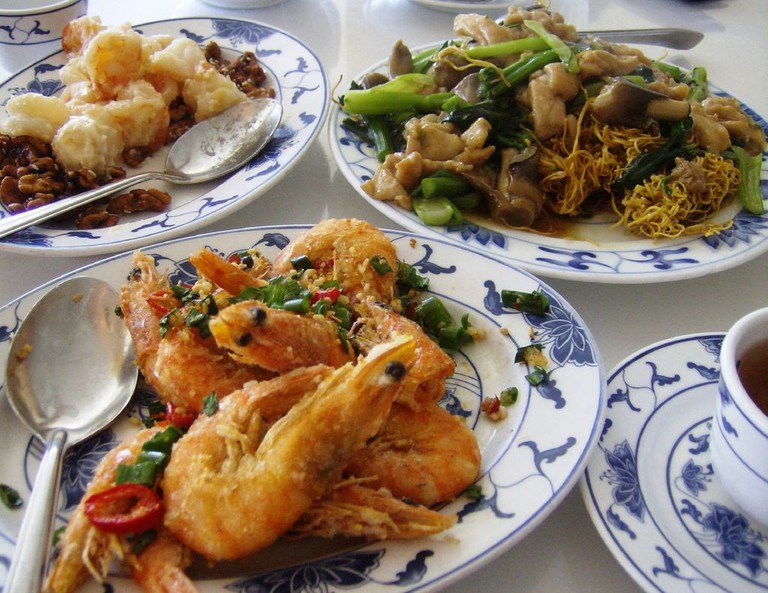 Chinese food overload in Hong Kong Style